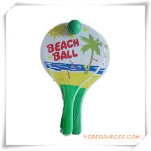 Presente da promoção para personalizar raquete de praia de madeira com bola OS05001