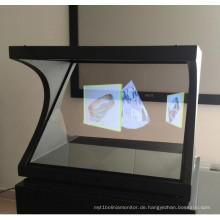 Dedi 3D holographische Werbung / transparenter Bildschirm für Projektor / Hologramm-Glasfenster-Anzeige