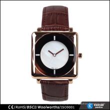 Mens de la tendencia de diseño de cuarzo reloj cuero occidental banda de reloj