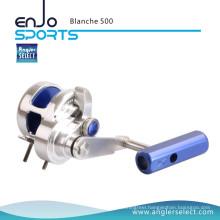 Angler Select Blanche Super Smooth Aluminium / 8+1bb Sea Fishing Jigging Reel Fishing Tackle Reel (Blanche 500)