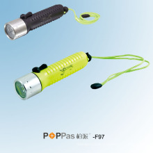 CREE Q5 LED wasserdichte Tauch-LED-Taschenlampe (POPPAS-F97)