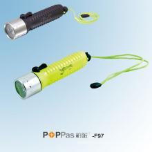 CREE Q5 LED Waterproof Diving LED Flashlight (POPPAS- F97)