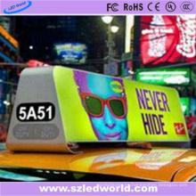 Luz superior de taxi de lado doble P4 para publicidad en video
