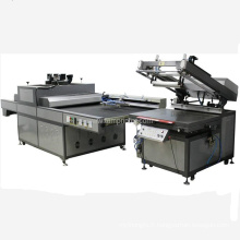 Machine UV de bout de machine d'impression d'écran avec le bras robotique