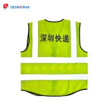 Chaleco reflectante de seguridad de tráfico de ropa de alta calidad con bolsillo de identificación