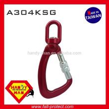 A304KSG Indicator Metal Aluminum Swivel Load Snap Screw Lock Hook