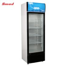 Supermercado Suministros Refrigeración de vidrio Vertical Display Glass Shiller Showcase