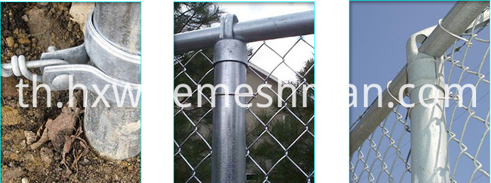 galvanized chain link fence details