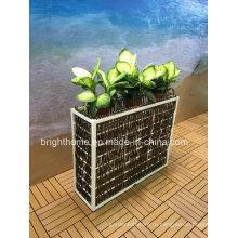 Открытый ротанга сад плантатор цветочный горшок