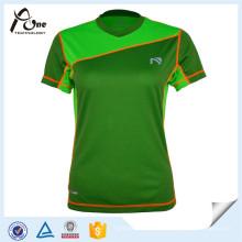 Tee-shirt de sport fait sur commande des femmes d'usage de sports