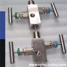 Multiport geschmiedetes Stahl-Kompaktventil mit Hebel