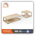 CT-22 ET-22 modern veneer coffee table stainless steel end table wood table tops