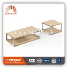 CT-22 ET-22 moderne Furnier Couchtisch Edelstahl Beistelltisch Holz Tischplatten