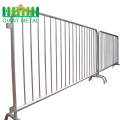 Used Metal Silver Stainless Steel Crowd Control Barrier
