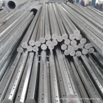 Оцинкованный конический многоугольный электрический металлический столб