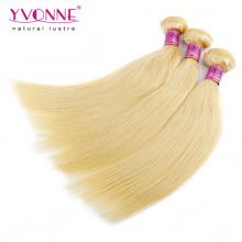 Cheveux humains droits blonds péruviens de bonne qualité
