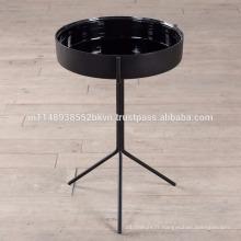 Plaque ronde avec 3 jambes Table d'appoint