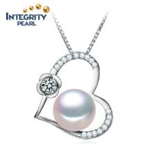10-11mm halb runde AAA Süßwasser-Herzform Schmuck Perlen Anhänger