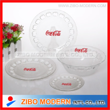 Stock Lot aus Glas Schüssel Platte
