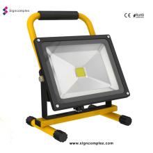 Reflector recargable de LED de alta potencia COB 10W / 20W / 30W / 50W
