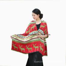Fashion Pashmina Deer Hiver longue écharpe pour Lady