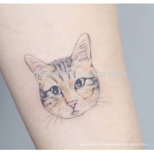 Fine design cat patterns waterproof tattoo sticker