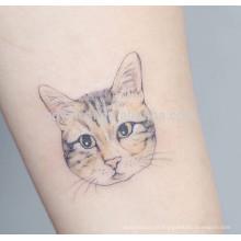 Padrões de gato de design fino adesivo de tatuagem à prova d'água