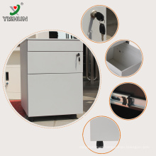 steel mobile pedestal/ metal movable cabinets/ 3 drawer mobile pedestal cabinet