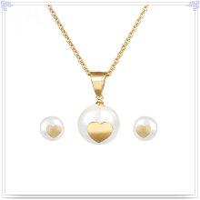 Accessoires de mode Ensemble de bijoux en bijouterie en acier inoxydable (JS0043G)