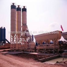 75m3/hr fully HZS75 automatic concrete batching plant for sale