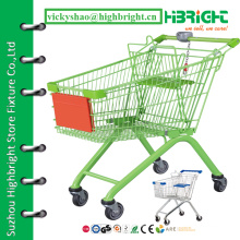 shopping cart trolley,hand cart for supermarket,4 wheel shopping trolley
