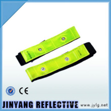china LED pvc reflective elastic reflective armband