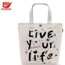 Werbe-Logo gedruckt benutzerdefinierte Canvas Cotton Tote Bag