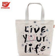 Promotional Logo Printed Custom Canvas Cotton Tote Bag