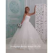 Popular Rich Applique Lace Sweetheart Wedding Dress