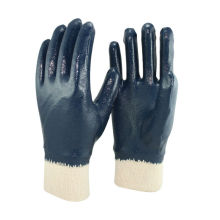 NMSAFETY interlock liner coated nitrile industrial glove EN 388 3111