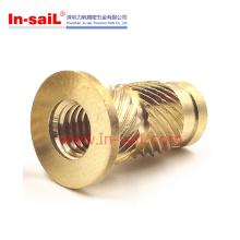China Fastener Supplier Brass Substituição mole para caixa plástica