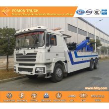 SHACMAN 6x4 double hoist towing wrecker truck