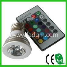 Bridgelux Chip LED-Glühbirne Lampe E27 3W RGB LED-Strahler