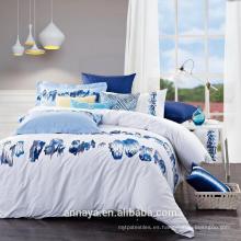 País y estilo rústico --- Juego de cama de algodón completo con bordado
