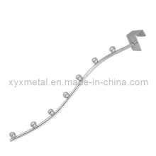 Silver Tone Metal Clothing Display Hook Waved Waterfall Hanger Rack