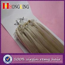 Extensión de cabello recta de 30 pulgadas Micro Ring