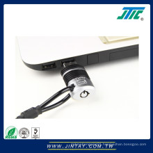 Security cable lock for USB port of laptop
