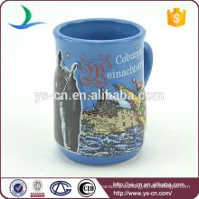 YScc0018-1 tazas de café azules de cerámica al por mayor para la Navidad