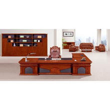 qualified office table with wood veneer for executive desk