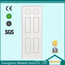 Porte en bois de panneau américain blanc texturisé / lisse pour le projet (WDHC02)