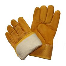 Cow Skin Industrial Safety Winter Driver Gloves Warm Labor Working Gloves
