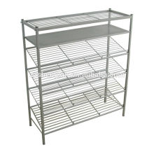 Home Knocked Down Metal Shoe Rack Six Tiers for Living Room