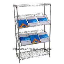 El metal ajustable de la oficina de DIY inclinó el estante de exhibición (SL9045180A4C)