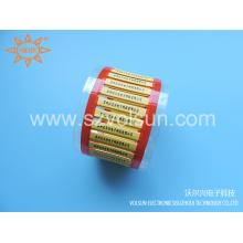 Substitua a impressão amarela do tubo do psiquiatra do calor de Raychem